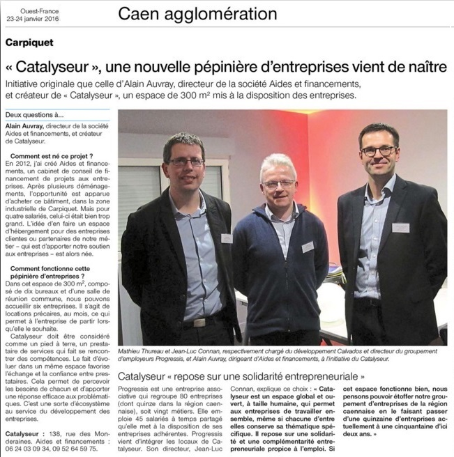 Article OF 230116 Catalyseur