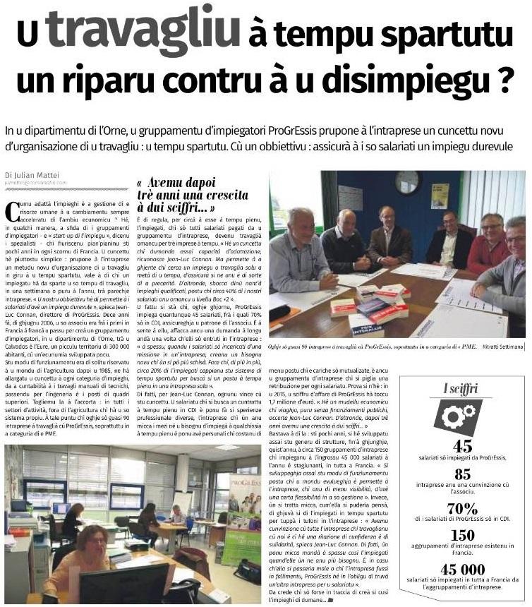 Corse matin_GE Progressis_juin 2016